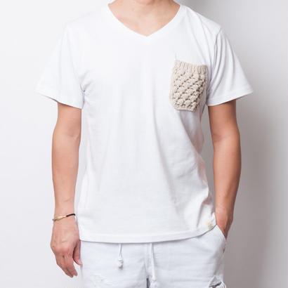 ISLANDER/アイランダー オリジナルVネックポケットTシャツ(ホワイト)
