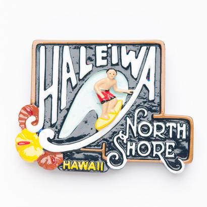 ハワイHAWAIIハレイワ HALEIWAノースショアNORTH SHORE看板マグネット(M)