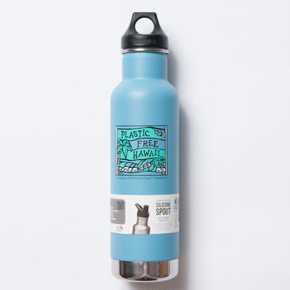 Heather Brown × Plastic Free Hawaii Klean Kanteen 20oz(592ml)Classic Vacuum Insulated with Loop Cap