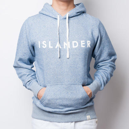 ISLANDER/アイランダー ロゴスウェットプルオーバーパーカー/ヴィンテージヘザーブルー