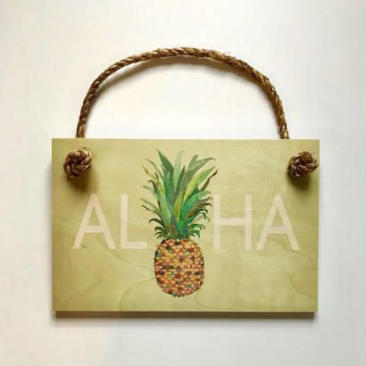 SoHa LIVING/Aloha Pineapple メッセージプレート看板