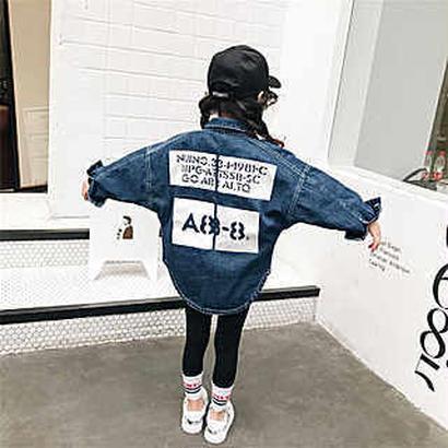 【立元様専用】kids兼用OK☻英字デザインデニムジャケット