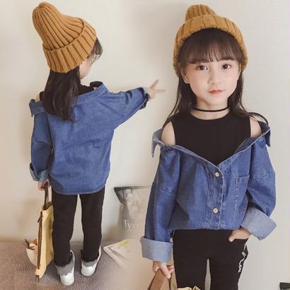 【山田様専用】kids☻タンク一体型デニムシャツ