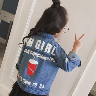 【予約】kids☻ denim jacket