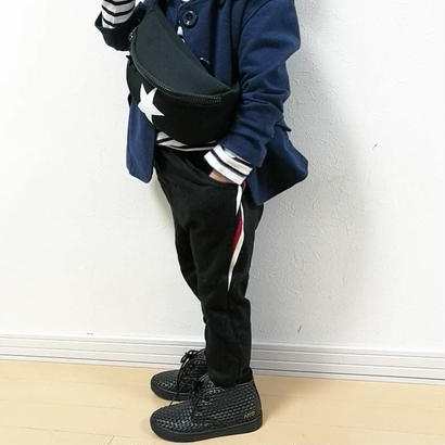 kids兼用ok☻サイドライン入りパンツ【ブラック・グレー・ブルー】