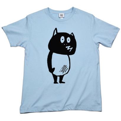河童の三平 たぬき T-Shirts(特製タグ付) Color  ブルー