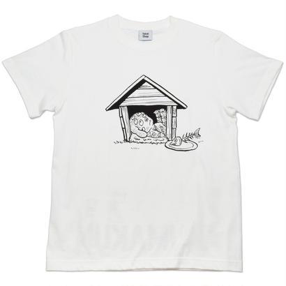 悪魔くん 百目 T-Shirts  Color  バニラホワイト