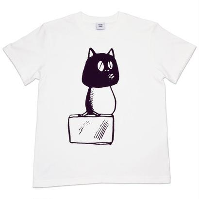 河童の三平バッグ持ちタヌキ T-Shirts(巾着袋付) Color  バニラホワイト