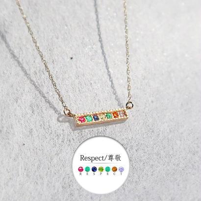 K10ゴールド <メッセージネックレス/RESPECT>