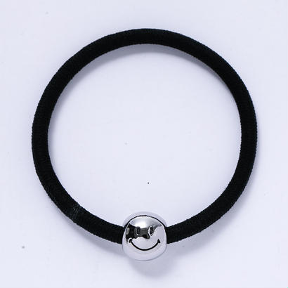 HAIR ELASTIC_SMILY_SILVER