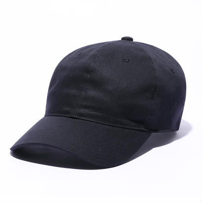 CURVE VISOR 6-PANEL CAP_TWILL_BLACK