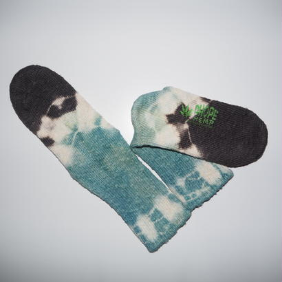 Hemp Cotton Socks(水色×消炭色)