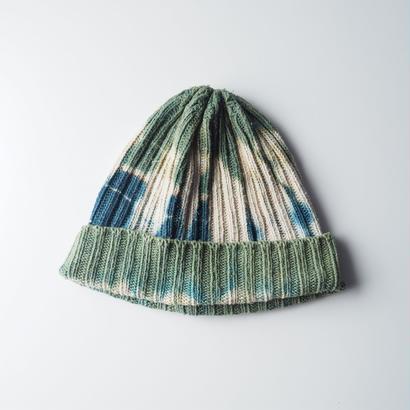 RIB WATCH CAP (緑 × インド藍)