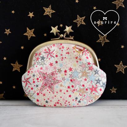 SALE キラキラ星のコインケース チャーム付き ピンク