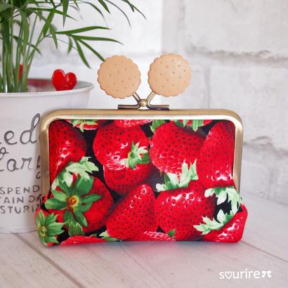 苺とビスケットのカードケース&小物入れ