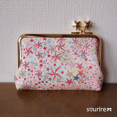 キラキラ星のカードケース&小物入れ ピンク