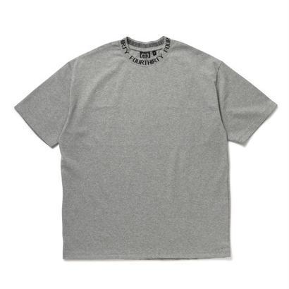 JACQUARD COLLAR S/S BIG TEE (GRY size1)
