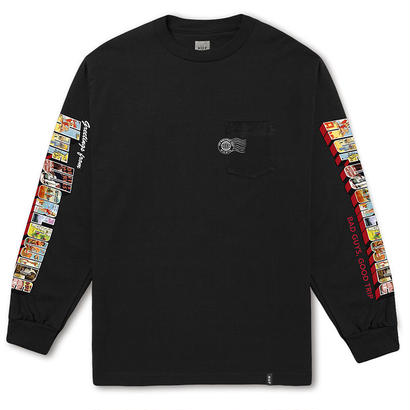 GREETINGS L/S POCKET TEE BLACK (L)