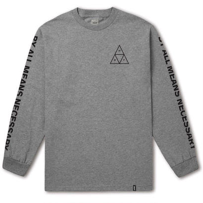 ESSENTIALS TT L/S TEE GREY HEATHER (L)