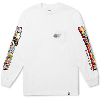 GREETINGS L/S POCKET TEE WHITE (L)