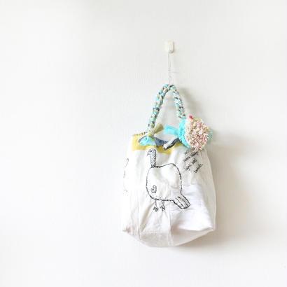 刺繍バッグ「トリぽんぽん」再販