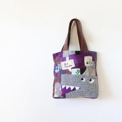 ちくちく2‐faced bag「wolf1」再4