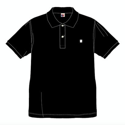 SUMMIT  ''雪山ロゴ'' 刺繍ポロシャツ BLACK