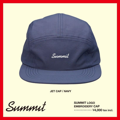 SUMMIT LOGO刺繍 JET CAP(NAVY)