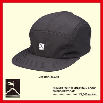 "SUMMIT ""雪山ロゴ""刺繍 JET CAP(BLACK)"
