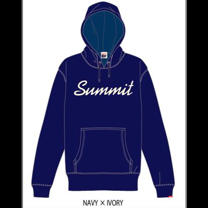 SUMMIT ロゴパーカー 18/19(NAVY × IVORY)※受注販売、発送は11/19以降順次