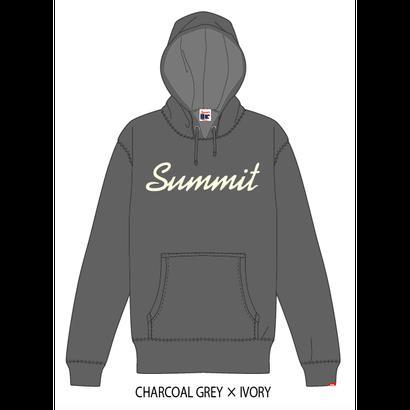 SUMMIT ロゴパーカー 18/19 (CHARCOL GRAY × IVORY)※受注販売、発送は11/19以降順次