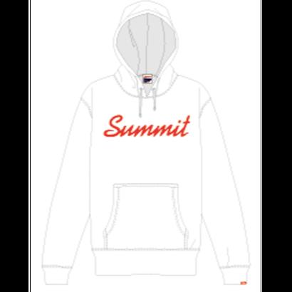 SUMMIT ロゴパーカー 18/19(WHITE × RED)※受注販売【発送期間 12/19(水) 〜 12/25(火)】