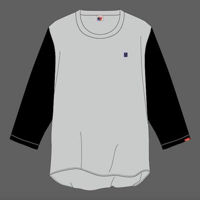 SUMMIT ''雪山ロゴ'' 刺繍ベースボールTシャツ GRAY