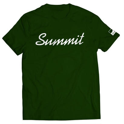 SUMMIT Label Logo T-shirt Deep Green