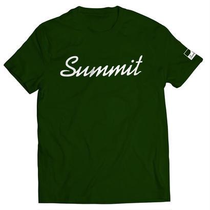 SUMMIT Label Logo T-shirt Deep Green