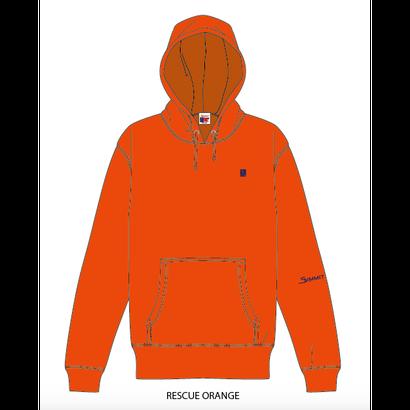 "SUMMIT ""雪山ロゴ"" 刺繍 RESCUE PARKA (ORANGE)"