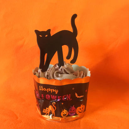 Halloweenケーキトッパー【クロネコ】
