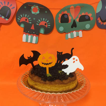 Halloweenケーキトッパーよりどり4個セット