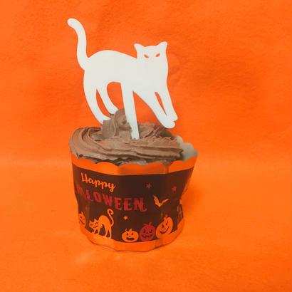 Halloweenケーキトッパー【シロネコ】