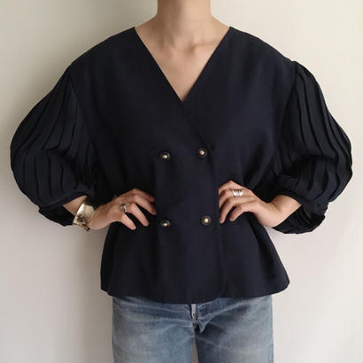 Euro Vintage Volume Sleeve Short Jacket
