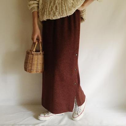 Euro Vintage Bordeaux Knit Long Skirt