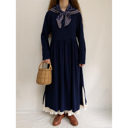 Euro Vintage Cotton Cut and Sew Long Dress