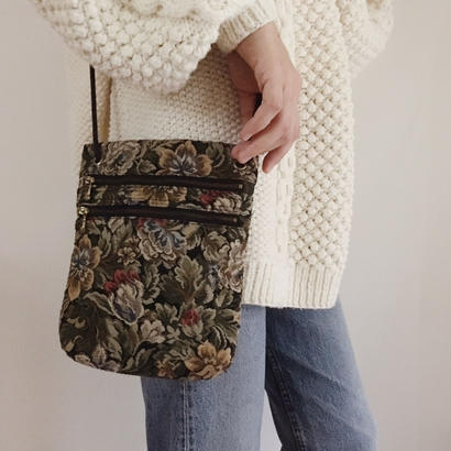 flower gobelins shoulder bag