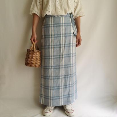Euro Vintage Plaid Long Skirt