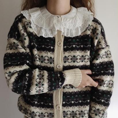 U.K. Vintage Shetland Wool Knit Cardigan