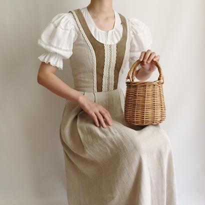 Euro Vintage Sleeveless Long Tyrol Dress