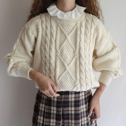 Euro Vintage Cable Knit Sweater