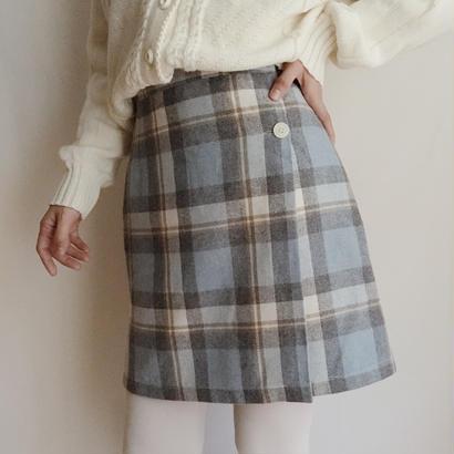 eurovintage plaid tight mini skirt