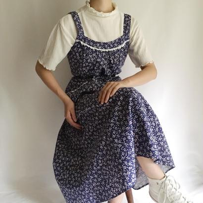 Euro Vintage Flower Print Flare Dress