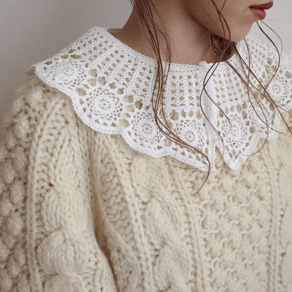 vintage lace detachable collar